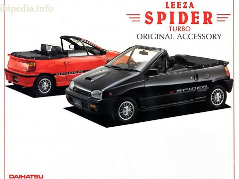 Technical specifications and characteristics for【Daihatsu Leeza Spider】